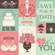 Vector collection of wedding cards. — Stock Vector #31263961