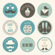 Decorative wedding icons — Stock Vector
