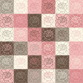 Seamless pattern with delicate art nouveau roses flowers. — Stock Vector