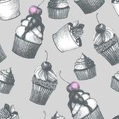 Vintage tatlı pasta arka plan. — Stok Vektör