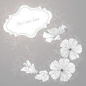 Vector fondo con hibiscos ornamental. — Vector de stock
