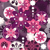 Seamless pattern with fantastic lilac flowers. — Vector de stock