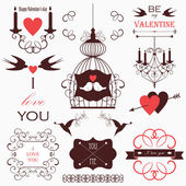 Vector wedding design elements. — Stock Vector