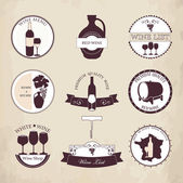 Collection of Wine Labels with vintage design. — Stock Vector