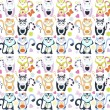 Vector cats pattern — Stock Vector
