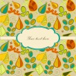 Seamless pattern with autumn leaf and place for your text. Decorative fall background — Stock Vector