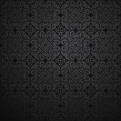 Czarne tło kwiatowy — Wektor stockowy