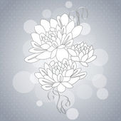 Delicate background with decorative dahlia flowers. Vector illustration — Stock Vector