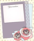 Decorative background - design for greeting card, invitation, menu — Stock Vector
