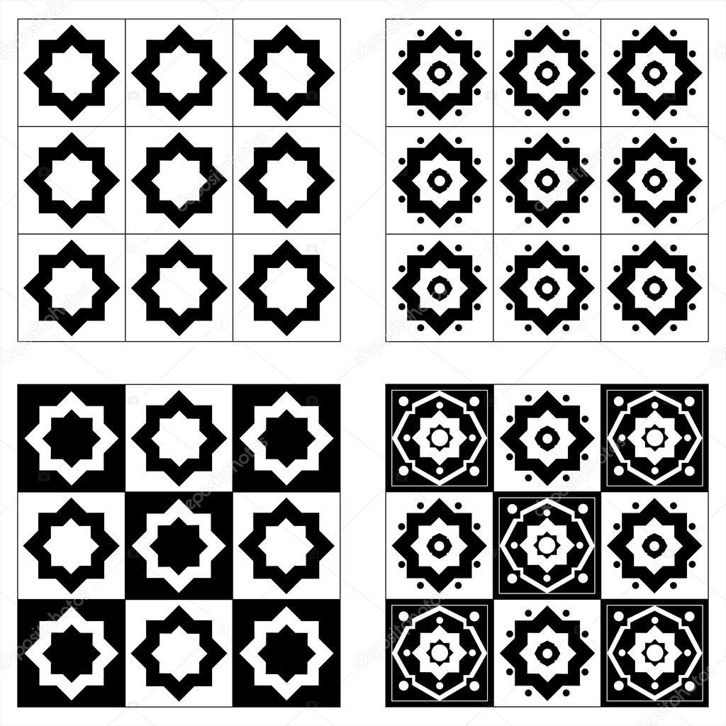 картинки черно белые с узорами