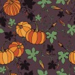 Seamless pattern with decorative pumpkins — Stock Vector