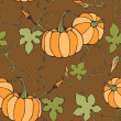 seamless pattern with decorative pumpkins in autumn colors — Stock Vector