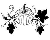 Vector hand drawn pumpkin — Vettoriale Stock