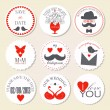 Vector collection of decorative wedding icons — Stock Vector #36302541