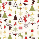 Vector seamless pattern with Christmas and New year's decoration — Vector de stock