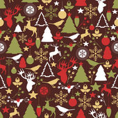 Vector seamless pattern with Christmas and New year's decoration — Stockvektor