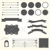 Vector set of design elements — Stock Vector