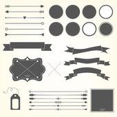 Vector set of design elements — Stock Vector