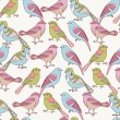 Seamless Pattern with decorative birds. — Stock Vector #38414145