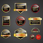 Vector gold frames. Premium design elements. — Stock Vector
