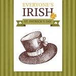 Leprechaun hat for St. Patrick's day — Stock Vector