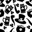 Stock vektor: Vector seamless pattern with St. Patrick's day illustrations
