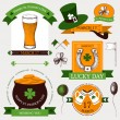 Stock Vector: Vector collection of vintage banners for St. Patrick's day