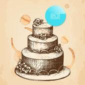 婚礼蛋糕 — 图库矢量图片