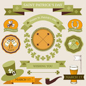 Vector set of decorative design elements for Saint Patrick's day. — Stock Vector
