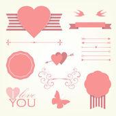 Valentine's day elements collection — Stockvektor