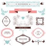 Colección Vintage de vector de elementos de diseño de la boda — Vector de stock