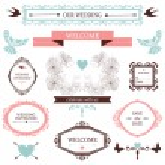 Vintage collection of Vector wedding design elements — Stock Vector