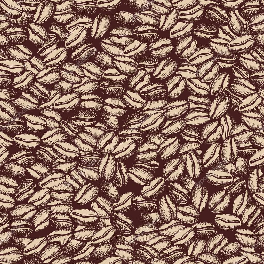 Coffee Bean Drawing Depositphotos_42788993-vector