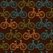 бесшовные велосипеды шаблон — Cтоковый вектор