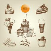 Dessert samling — Stockvektor