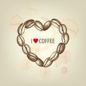 Coffee heart — Stock Vector