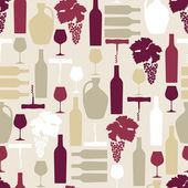 Seamless Wine pattern — Stock Vector