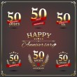 Fifty years anniversary signs collection — Stock Vector #49595623
