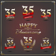 Thirty five years anniversary signs collection — Stock Vector #49595667