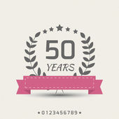 Vector anniversary sign. — Stock Vector