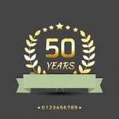 Vector anniversary goleden sign. — Stock Vector