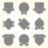 Vector collection of labels — Stock Vector