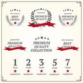 Set of vintage premium quality elements — Stock Vector