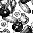 ������, ������: Hand drawn vegetables