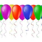 Baloons_border — Stock Vector