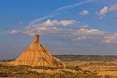 Desert landscape under the sunset colors — Stock Photo