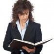 Business woman with book — Stock Photo #5880782