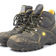 Pair of old work boots — Stock Photo #6340640