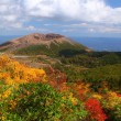 Stock Photo: Mt. Azumakofuji of tinted autumn