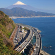 Mt. Fuji and Expressway — Stock Photo